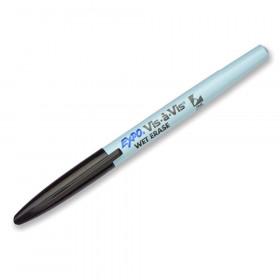 Marker Vis A Vis Fine Black Wet Erase Permanent