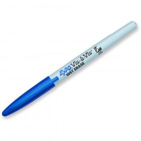 Marker Vis A Vis Fine Blue Wet Erase Permanent