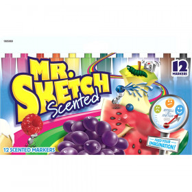 Mr. Sketch Scented Markers, Chisel Tip, Assorted Colors, Pack of 12