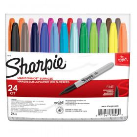 Sharpie Fine Point Markers, Asstd Colors, 24/pkg