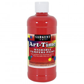 Red Art-Time Washable Paint - 16 oz.