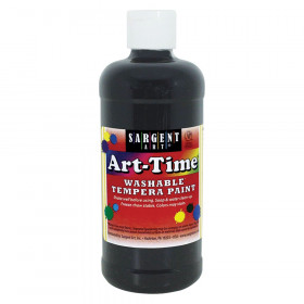 Black Art-Time Washable Paint - 16 oz.