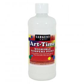 Art-Time Washable Tempera Paint, 16oz., White