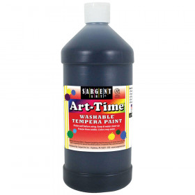Black Art-Time Washable Paint - 32 oz.