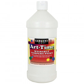 Art-Time Washable Tempera Paint, 32oz., White