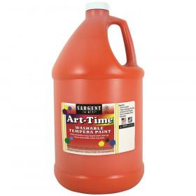 Art-Time Washable Tempera Paint, Orange, Gallon