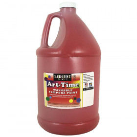 Art-Time Washable Tempera Paint, Red, Gallon