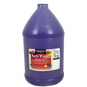Art-Time Washable Tempera Paint, Violet, Gallon