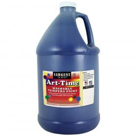 Art-Time Washable Tempera Paint, Blue, Gallon
