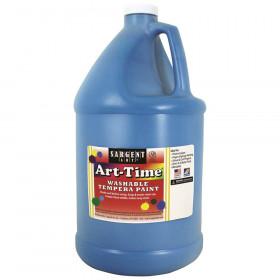 Art-Time Washable Tempera Paint, Turquoise Blue, Gallon