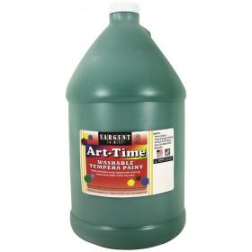 Art-Time Washable Tempera Paint, Gallon, Green