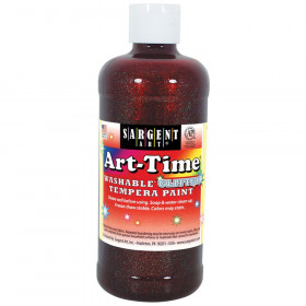 Art-Time Washable Glitter Tempera, 16 oz., Red
