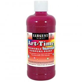 Art-Time Washable Glitter Tempera, 16 oz., Magenta