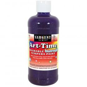 Art-Time Washable Glitter Tempera, 16 oz., Violet