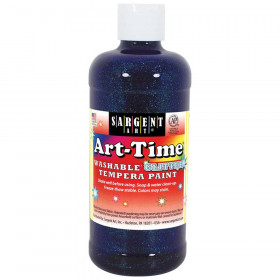 Art-Time Washable Glitter Tempera, 16 oz., Blue