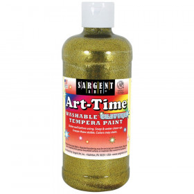 Art-Time Washable Glitter Tempera, 16 oz., Gold