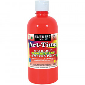 Arttime Fluorescent Paint 16 Oz R Washable Tempera