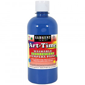 Arttime Fluorescent Paint 16 Oz Bl Washable Tempera