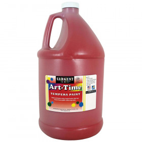 Art-Time Tempera Paint, Red, Gallon