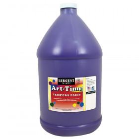 Art-Time Tempera Paint, Violet, Gallon