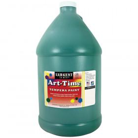 Art-Time Tempera Paint, Green, Gallon