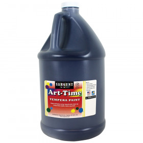 Art-Time Tempera Paint, Black, Gallon