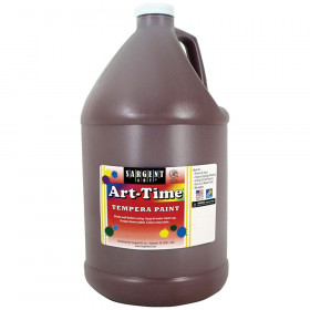 Art-Time Tempera Paint, Brown, Gallon