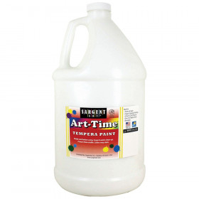 Art-Time Tempera Paint, White, Gallon