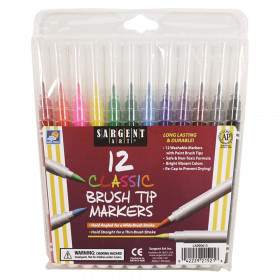 Sargent Art Classic Brush Tip Markers, 12 count