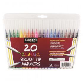 Sargent Art 20Ct Classic Brush Tip Markers