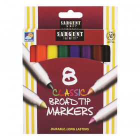 Sargent Art Classic Markers, Broad Tip, 8 colors