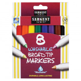 Washable Markers, Broad Tip, 8 Colors