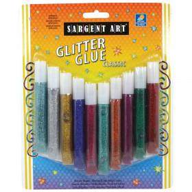 Washable Classic Glitter Glue Tubes, 10ml, 10-Pack