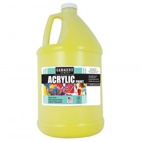 Acrylic Paint, Yellow, 64 oz. Bottle