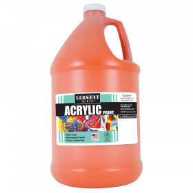Acrylic Paint, Orange, 64 oz. Bottle