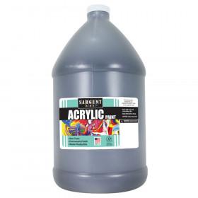 Acrylic Paint, Black, 64 oz. Bottle