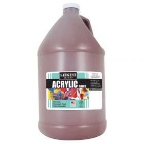 Acrylic Paint, Brown, 64 oz. Bottle