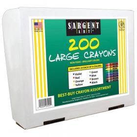 Best Buy Crayon Assortment, Large Size, 8 Colors, 200 Crayons