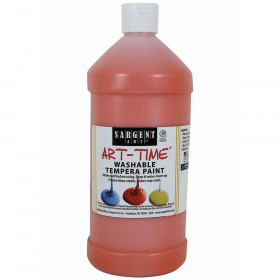 Orange Washable Tempera Paint 32Oz