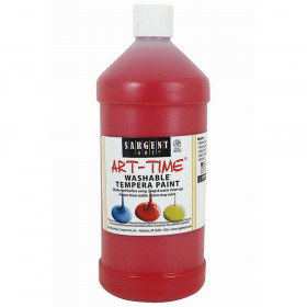Red Washable Tempera Paint 32Oz