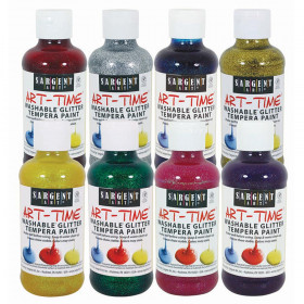 Washable Glitter Tempera Paint 8Pk 8Oz Assorted