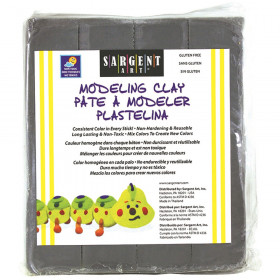 Non-Hardening Modeling Clay, 1 lb., Gray
