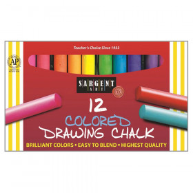 Colored Drawing Chalk, 12 Count