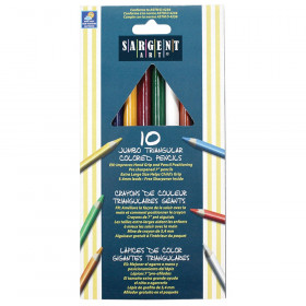 Easy Grip Triangle Colored Pencils, 6mm, 10 Colors