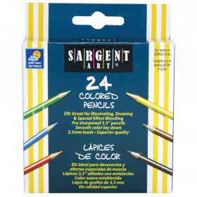 Half Size Colored Pencils, 24 Colors