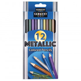 Colored Pencils, Metallic, 12 colors