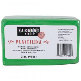 Plastilina Non-Hardening Modeling Clay, 2 lbs., Green