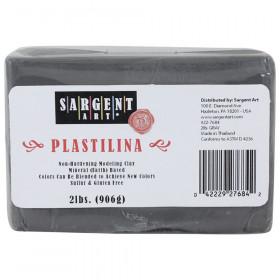 Plastilina Non-Hardening Modeling Clay, 2 lbs., Gray