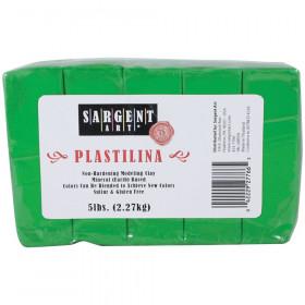 Plastilina Non-Hardening Modeling Clay, 5 lbs., Green