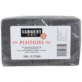 Plastilina Non-Hardening Modeling Clay, 5 lbs., Gray